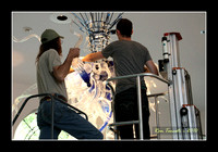 Packing up Chihuly Glass