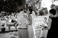 Backyard wedding. Mocksville, NC